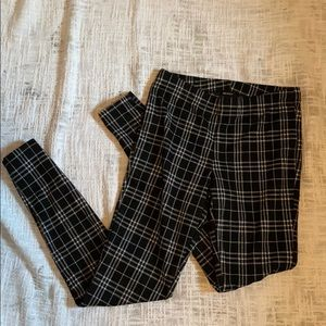 Forever 21 Black and White Plaid Pants